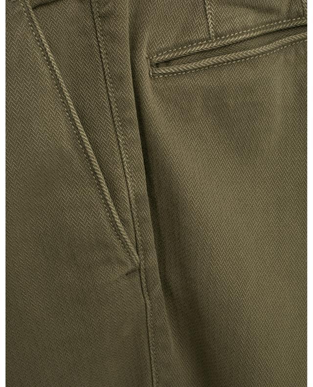 Slacks chevron textured tight fit trousers INCOTEX