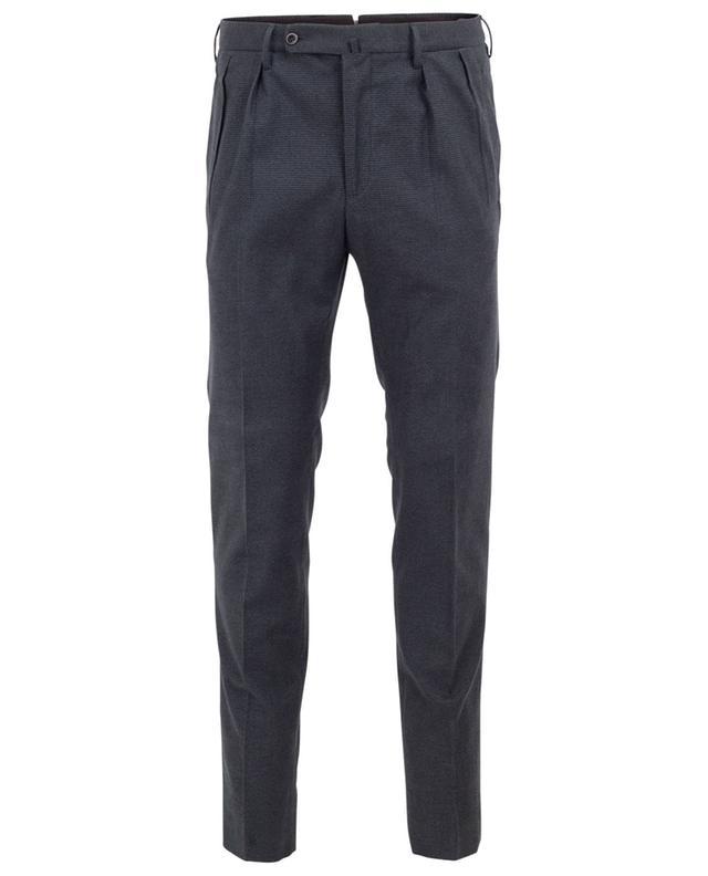 Pantalon en coton motif pied-de-poule INCOTEX