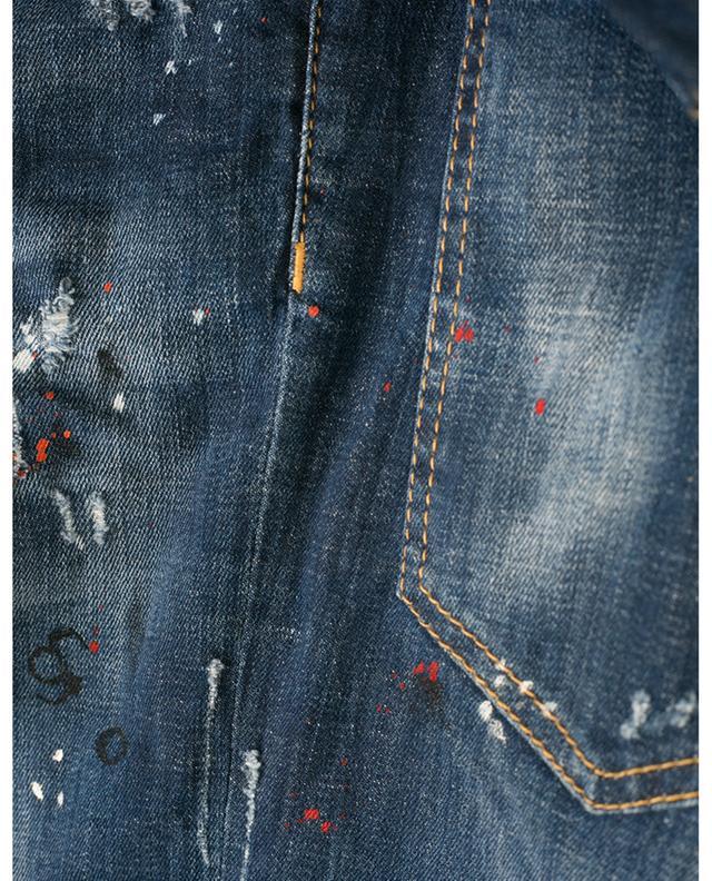 Fleckige, bestickte, zerrissene Jeans Skater DSQUARED2