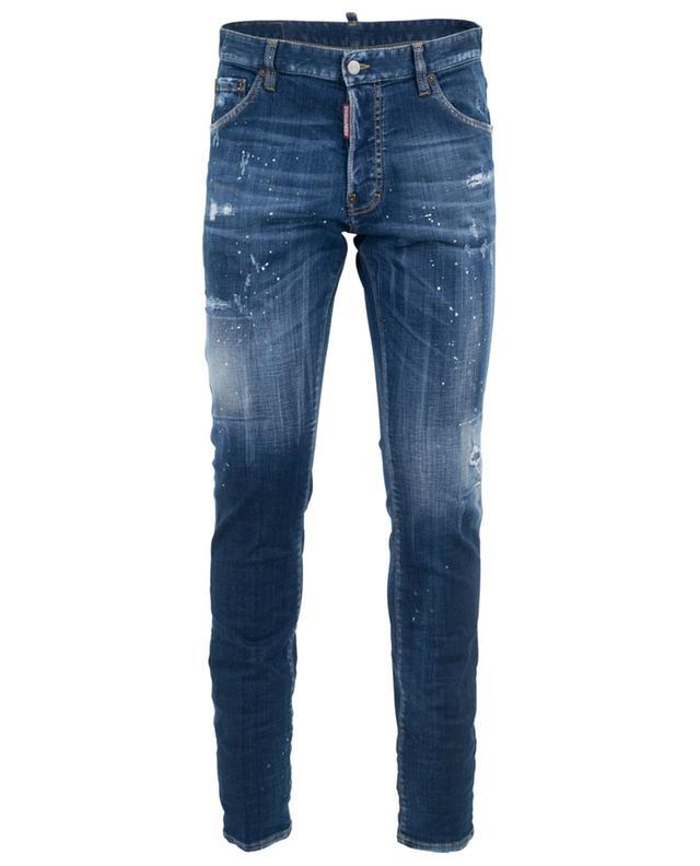 Distressed-Jeans mit Bieretikett Cool Guy DSQUARED2