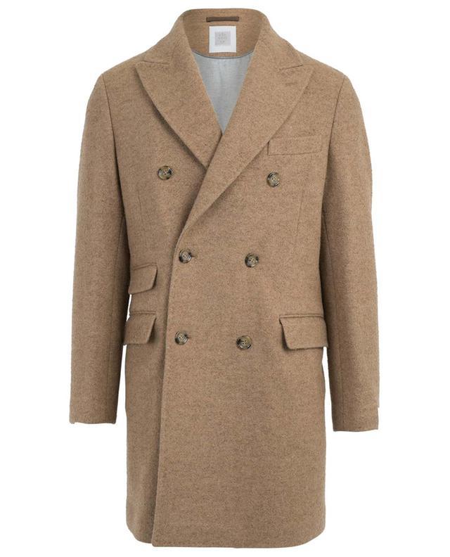 Manteau double boutonnière en laine et alpaga ELEVENTY