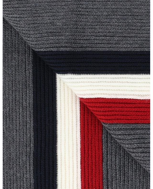 Écharpe à rayures tricolores avec logo MONCLER