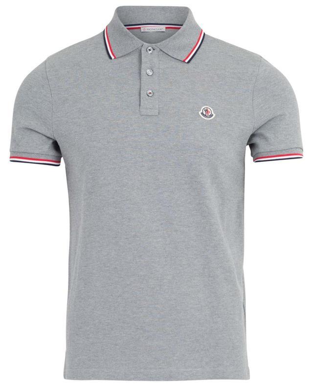 Piqué cotton short-sleeved polo shirt MONCLER