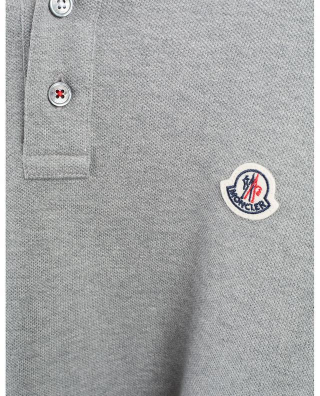 Polo à manches courtes en coton piqué MONCLER