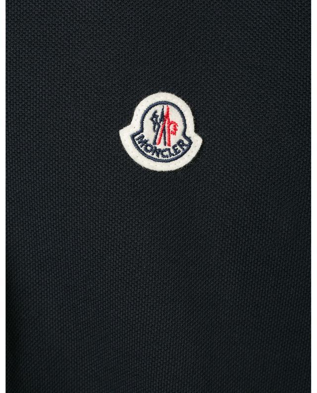 Polo slim à manches longues détail tricolore MONCLER