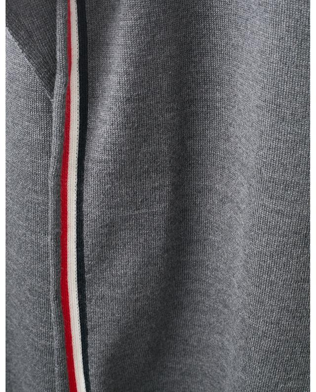 Fine knit jumper with tricolour side stripes MONCLER