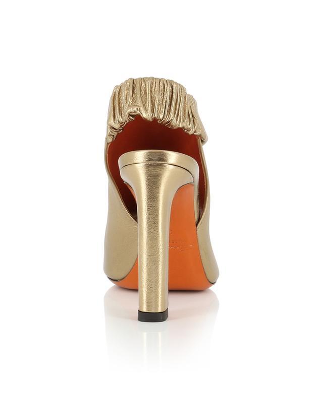 Sandales à talon en cuir doré SANTONI