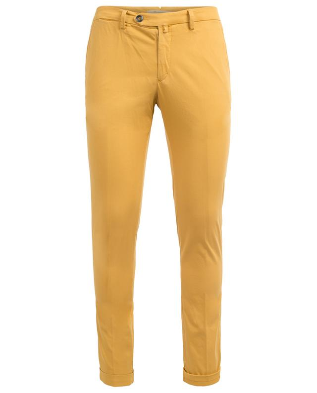 Lucky Pocket slim fit chino trousers with turn-ups B SETTECENTO