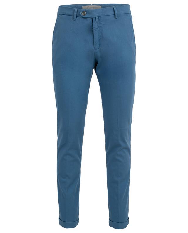 Pantalon slim en coton texturé B SETTECENTO