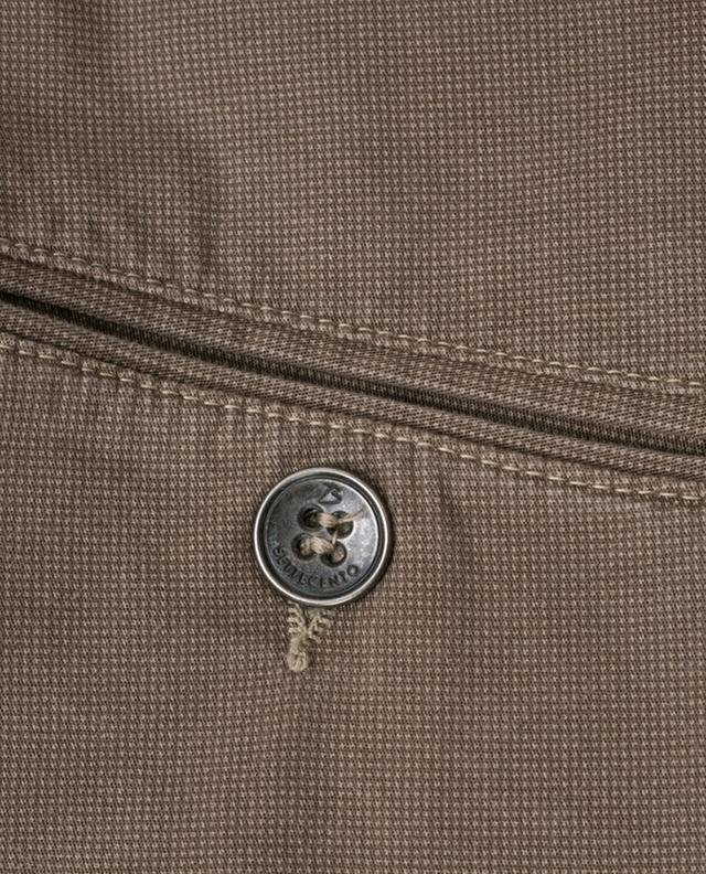 Polka dot slim fit cotton trousers B SETTECENTO
