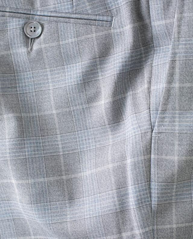 Pantalon à carreaux en laine vierge MARCO PESCAROLO