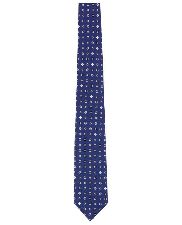 Cravate en soie imprimée LUIGI BORRELLI