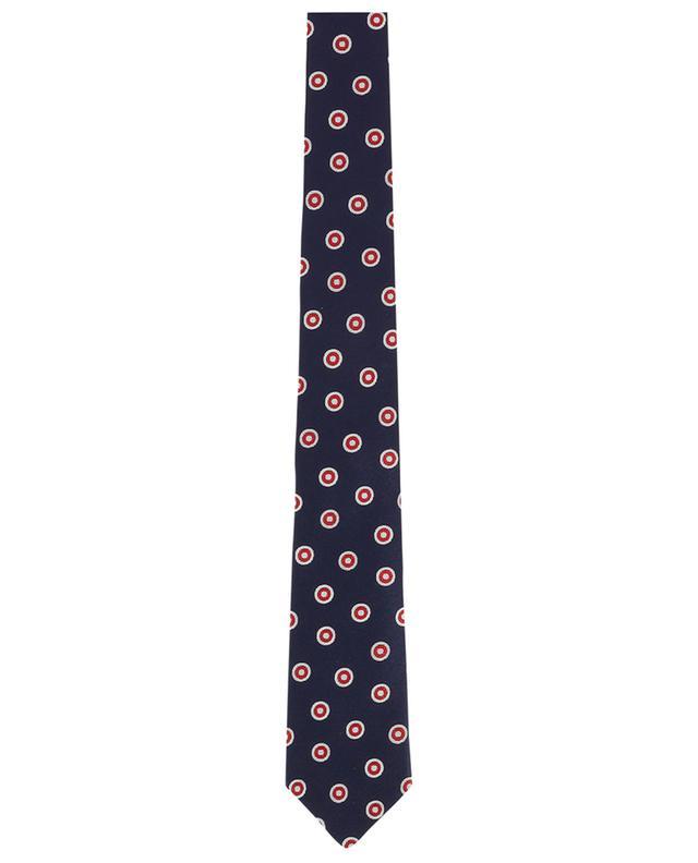 Cravate en soie texturée imprimée BORRELLI