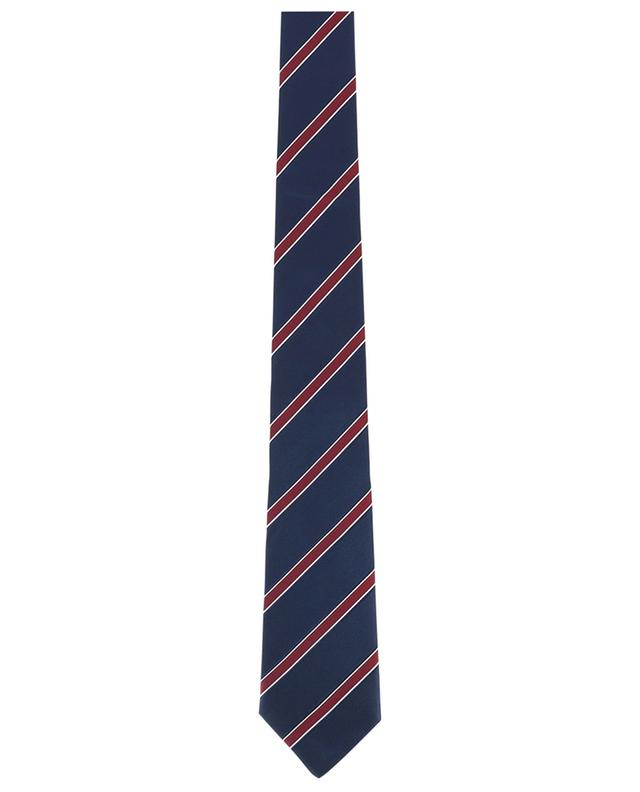 Cravate rayée en soie texturée LUIGI BORRELLI