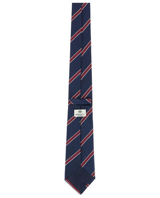 Cravate rayée en soie texturée BORRELLI