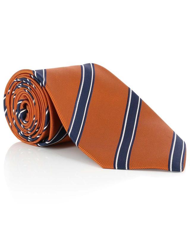 Textured silk striped tie BORRELLI