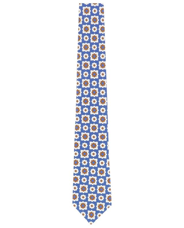 Cravate fleurie en soie LUIGI BORRELLI
