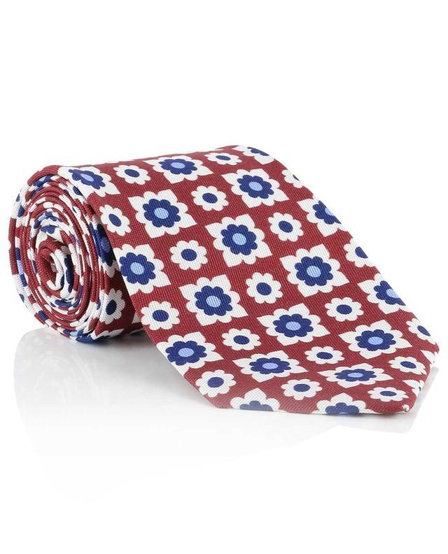 Floral silk tie BORRELLI