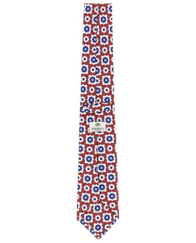 Cravate fleurie en soie BORRELLI