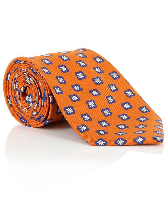 Daisy print silk tie BORRELLI