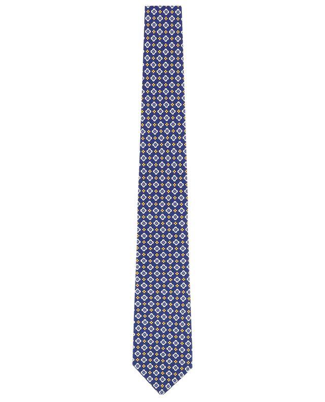 Silk flower print tie BORRELLI