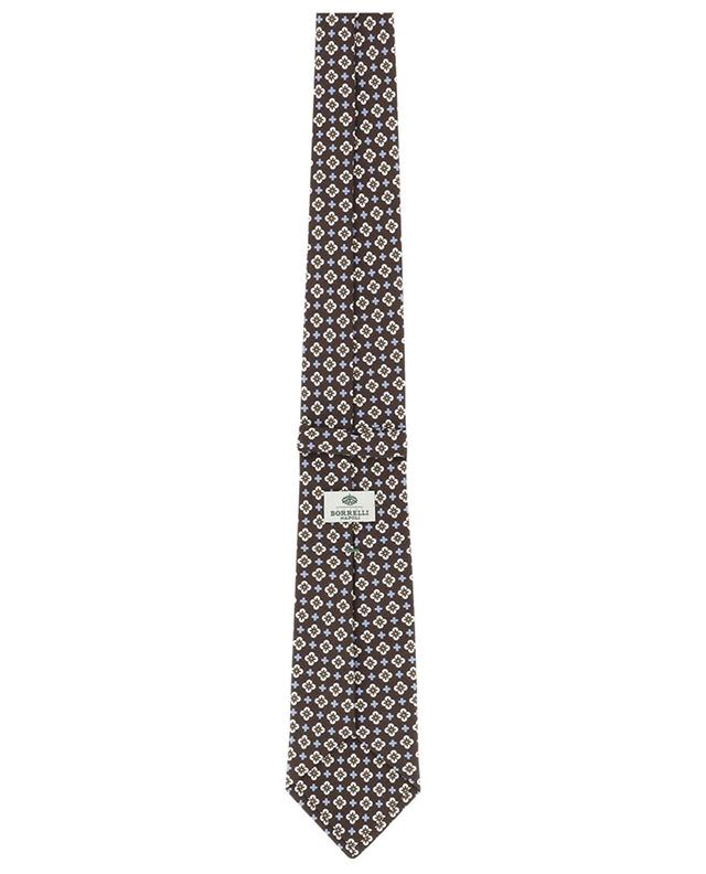 Cravate imprimée fleurs en soie LUIGI BORRELLI