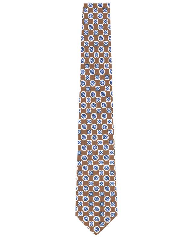 Flower print silk tie BORRELLI