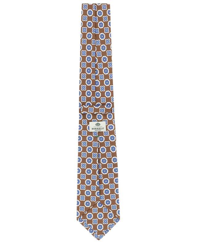 Cravate en soie imprimé fleurs BORRELLI