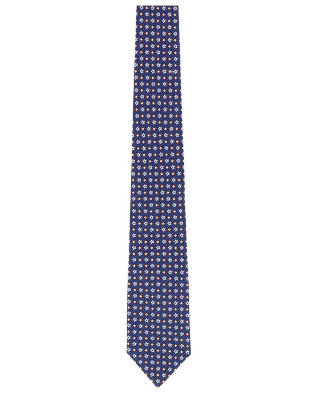 Flower and diamond print tie LUIGI BORRELLI