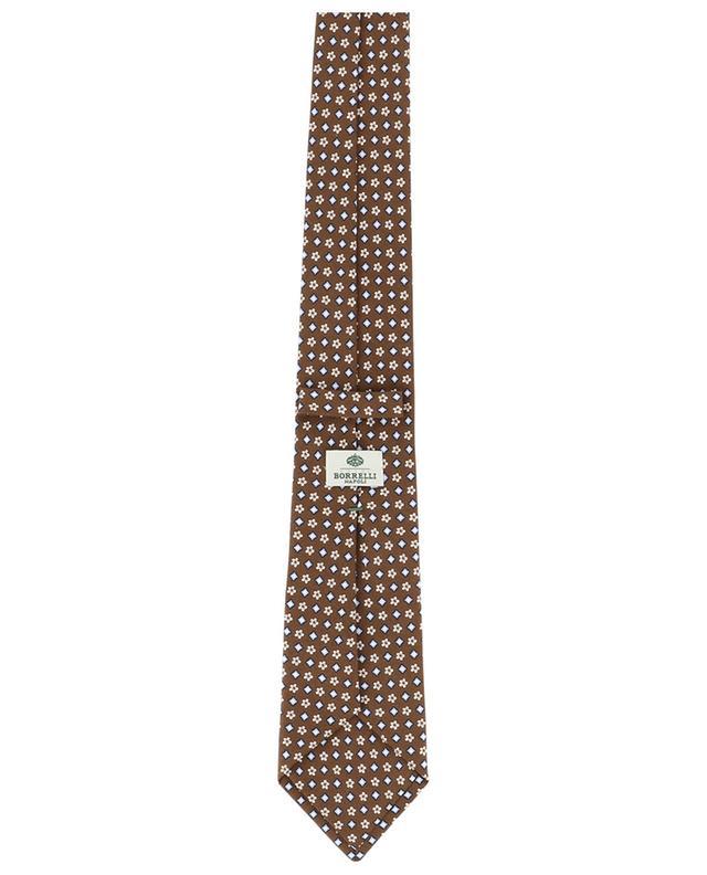 Cravate imprimée fleurs et losanges BORRELLI