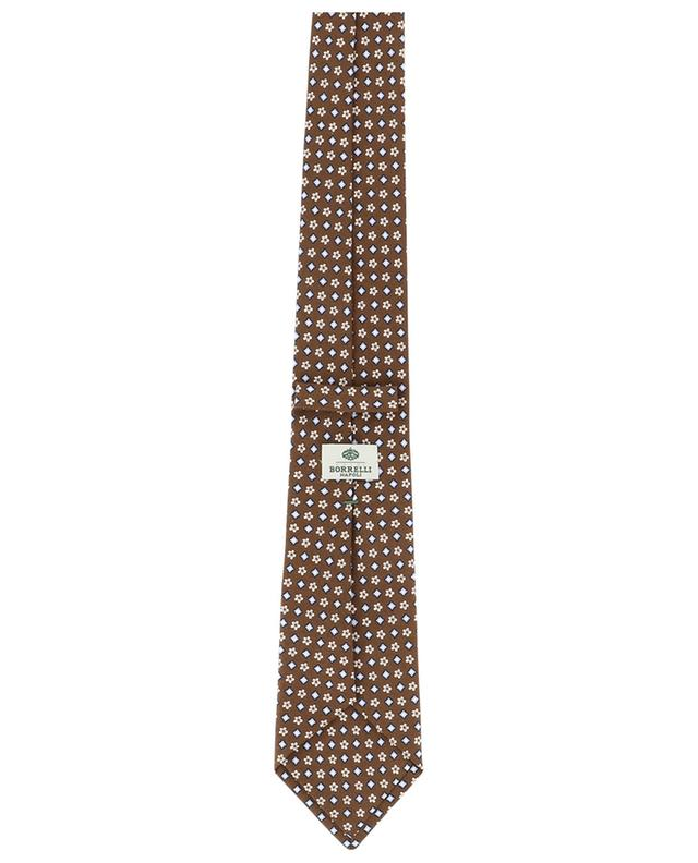Cravate imprimée fleurs et losanges LUIGI BORRELLI