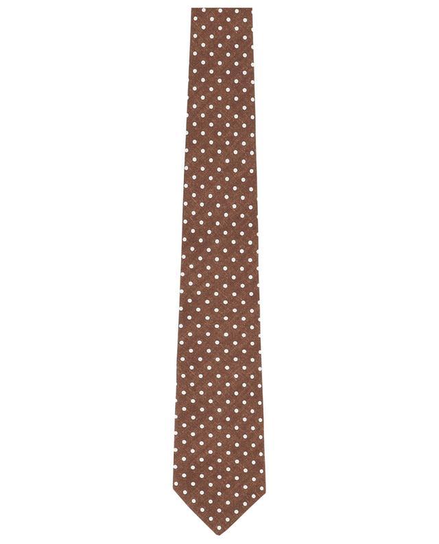 Cravate à pois en soie BORRELLI