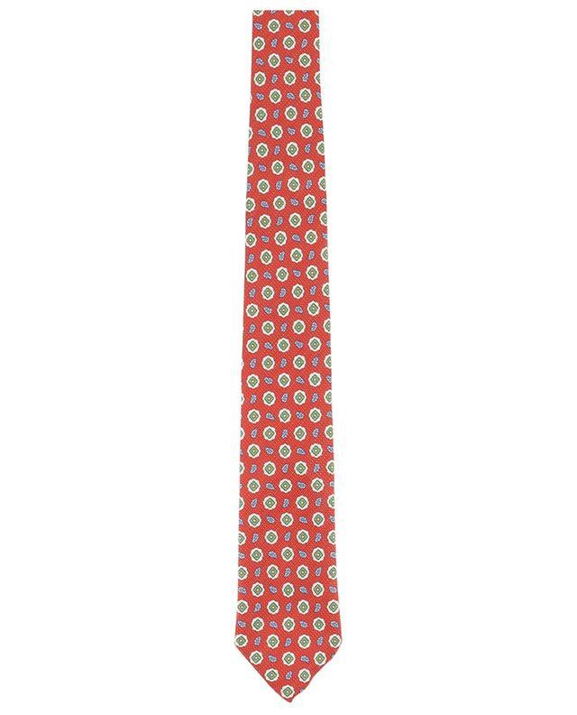 Cravate en soie et lin imprimés BORRELLI
