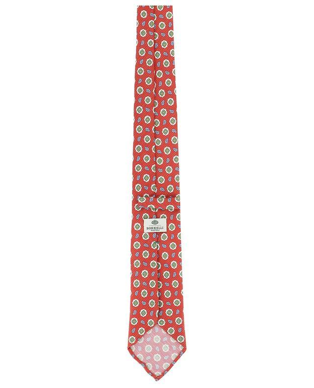 Printed silk and linen tie BORRELLI