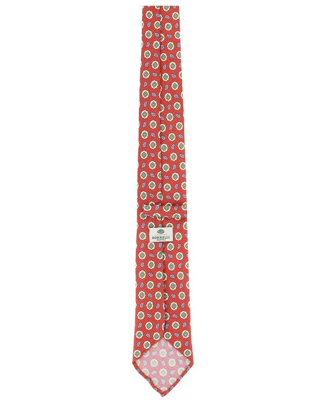 Printed silk and linen tie LUIGI BORRELLI