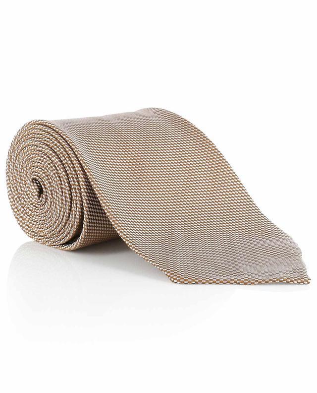 Textured silk tie BORRELLI