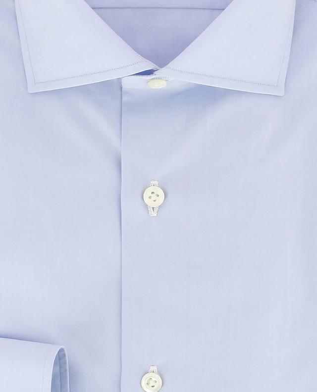 Fabio monochrome poplin shirt LUIGI BORRELLI