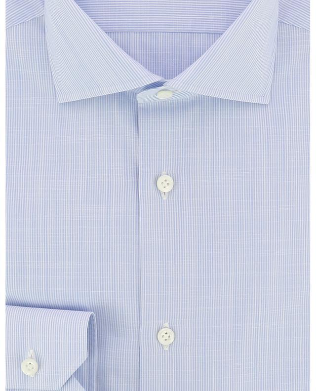 Fabio finely striped cotton shirt BORRELLI