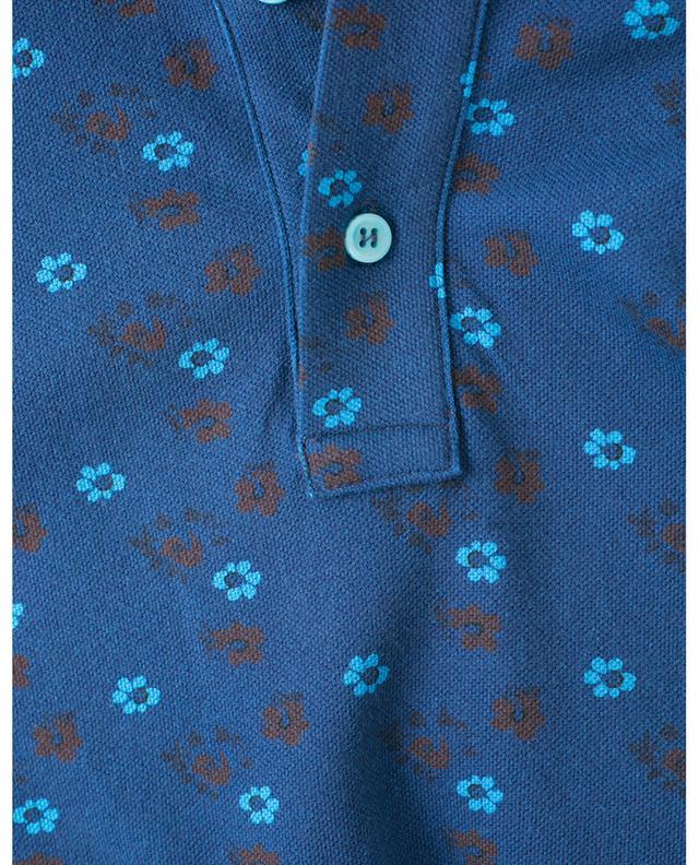 Polo à fleurs en coton piqué BORRELLI