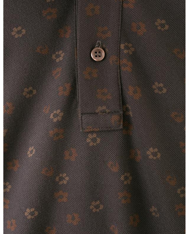 Polo à fleurs en coton piqué LUIGI BORRELLI