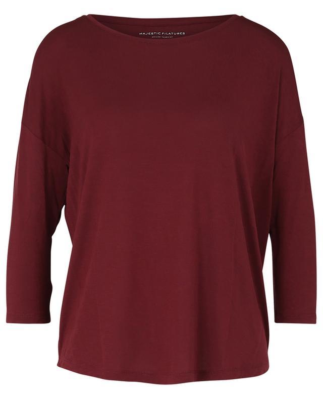 Langärmliges T-Shirt aus Viskose MAJESTIC FILATURES