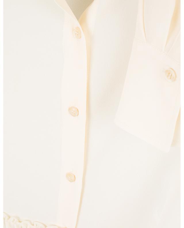 Hemd aus Crêpe mit Mandarinkragen SEE BY CHLOE