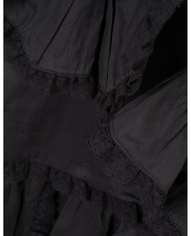 Baumwollbluse mit Spitze und V-Kragen SEE BY CHLOE