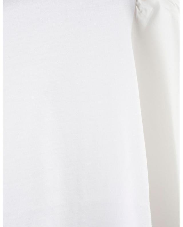 T-shirt bi-matière à manches brodées SEE BY CHLOE