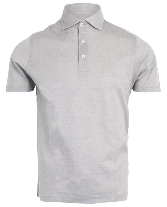 Slim fit piqué cotton short sleeve polo shirt GRAN SASSO