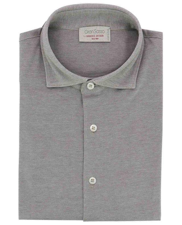 Chemise en coton piqué à manches longues GRAN SASSO
