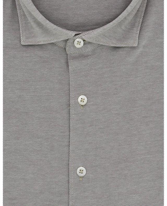 Piqué cotton long-sleeve shirt GRAN SASSO