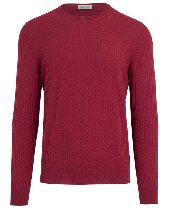 Textured cotton jumper GRAN SASSO