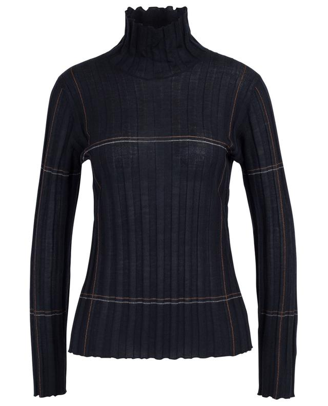 Rib knit sheath jumper with sparkling checks LORENA ANTONIAZZI