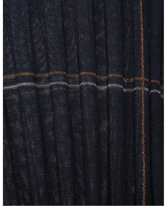 Pull chaussette côtelé à carreaux scintillants LORENA ANTONIAZZI
